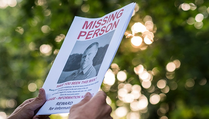 missing persons flyer